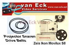 Zeiss Ikon Movilux S8 belts4 belt set (upper arm, lower arm, motor, belt betwe