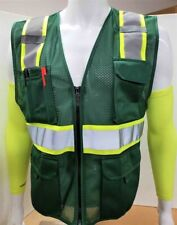 Two Tone High Visibility Reflective Hunter Green Safety Vest X Small 5xl