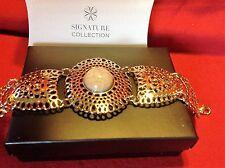 Signature Collection By Avon Avanti Medallion Bracelet NIB