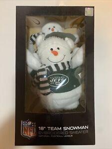 "NFL 18"" Team Snowman New York Jets Sweater new box Decor NIB Christmas Buddy"