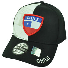 Chile Country Flag Black White Hat Cap Gorra Curved Bill Adjustable Chileans