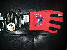 Washington Capitals Red Technology Gloves NEW NHL Hockey. Size Mens S/M