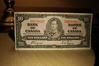 1937 $10 Dollar Bank of Canada Banknote ZD9256820