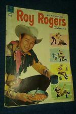 ROY ROGERS comics # 75 VG DELL WESTERN COMICS TV SHOW MOVIE RESTAURANT LOT RUN