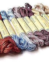 Kreinik Hand-dyed Silk Mori Thread - Milkpaints 1/2 Skein
