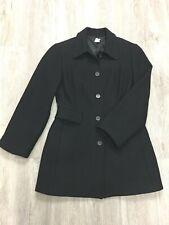 J.crew Wool Black  Tweed Coat Jacket Sz 4