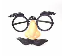 DISGUISE SET, MOUSTACHE NOSE AND GLASSES