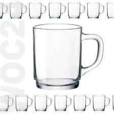 6 Kaffeegläser Teegläser STAPELBAR Henkel Griff Glas Gläser Bockbecher Glühwein
