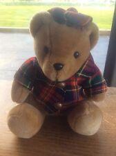 Elgate Peluche Teddy Bear Escocés Tartán Gorra Abrigo Botones De Latón Calidad Suave Juguete