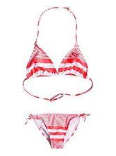 Roxy Girls Dotsy ROXY Sunset Stripe Tri Bikini Set Sz 10/M ERGX203050