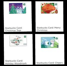 Starbucks Singapore Cards 2017.  Xmas Woodmark Hologram Merlion. Free Shipping