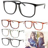XL OVERSIZED VINTAGE RETRO Style Clear Lens Square Frame Nerd EYE GLASSES Large