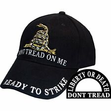 Black Gadsden Culpeper Liberty or Death Don't Tread on Me Hat Cap EE
