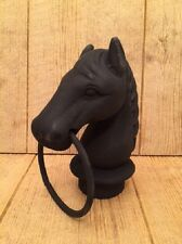"Hitching Post Horse Head Cast Iron 8 1/2"" tall Barn Supplies 0170S-11617"