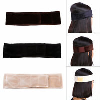 AM_ WOMEN VELVET WIG GRIP SCARF HEADBAND ADJUSTABLE FASTENER HAIR BAND ALLURING
