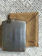 VTG Ronson Art Deco Cigarette Case & Lighter Combo Chrome Art Metal Works USA