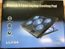 "Kootek Laptop Cooling Pad 12""-17"" Cooler Pad Chill Mat 5 Quiet Fans LED Light..."