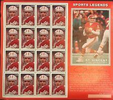 Saint Vincent Grenadines- 1995 Sports Legend Joe Montana Stamp- Sheetlet of 16