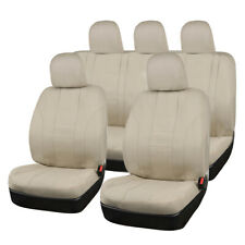 Universal 12 PC Beige Car Seat Covers Protector Full Rear Cover Set