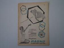 advertising Pubblicità 1958 MAGLIERIA RAGNO