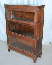 Antique Mission Oak Bookcase – Macey – Three High Sectional Stack Up Bookcase