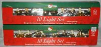 2 sets - Kurt S. Adler Christmas White Candle Clip-on 10 Straight Line Light Set
