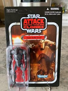 STAR WARS VC37 VINTAGE COLLECTION AOTC Super Battle Droid Unpunched MOC (Sealed)