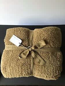 """NWT! BAREFOOT DREAMS Cozychic Large Throw Blanket, Brown Size 54""""X 72"""""""