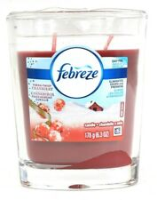 1 Febreze 6.3 Oz Fresh Twist Cranberry Eliminates Odors & Freshens Glass Candle