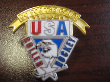 U.S. Roller Hockey Sports Federation 1996 Go For The Gold Pin
