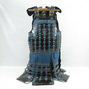 D1770: Real old iron Japanese DO (body guard) of SAMURAI's armor YOROI in 1700s