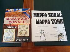 INTRODUZIONE AL MASSAGGIO ZONALE del PIEDE e della MANO + 2 Poster *Ottimo*