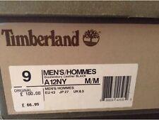En Caja 👤 Timberland 👤 UK 8.5 para hombres Glastenbury Negro Cuero Zapatillas Zapatos 9US/43