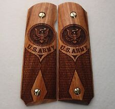 1911 Full Size & Commander Colt S&W Rock Island Grips U.S. Army Solid Rosewood