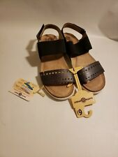 Earth Spirit Gelron Cushion Sandals Footbed Sandal Black New with Tags Size 6.5