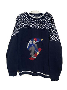 The children's place Boys Blue sweater Snowboard L 10/12