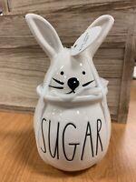Rae Dunn Easter Bunny Top Sugar Pot New Design Release Ears Head Magenta New