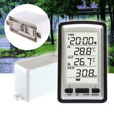 Digital Rain Gauge Wireless Temperature Weather Sensor Rain Indoor/outdoor