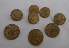 Antique Brass Buttons AP & C Paris x 8 1.6cm 1.5g Each A70017