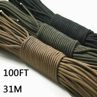 Climbing Rope Parachute Cord 100FT 31m Lanyard Camping Survival Equipment Kit