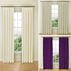 Clearance Geo Light Weight Pencil Pleat Pair Of Lined Curtains  - Free Postage