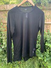rapha merino base layer black large