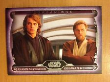 2015 Topps Star Wars Masterwork Companions C-4 Anakin Skywalker Obi-Wan Kenobi