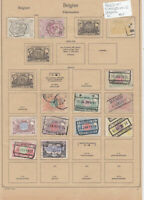 Belgium Stamps on 2 Pages Ref: R6872