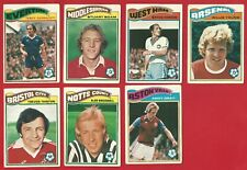 TOPPS FOOTBALLERS 1978 - ORANGE BACK - FOOTBALL TRADE CARDS x 7    (OK03)