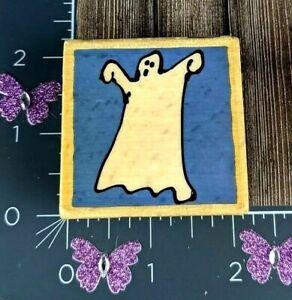 Vap Scrap Ghost Rubber Stamp Spooky Halloween Spirit Wood Mount #J130
