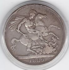 1889    Queen  Victoria  Large  Crown / Five Shilling  Coin