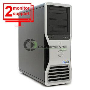 Dell Precision T7500 Workstation Quad Core E5640 2.66GHz 12GB 500GB FX3800 Win10