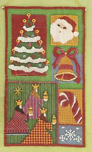 "Vintage Bucilla ""Yuletide"" Wall Hanging Christmas Needlepoint Kit NIP 10.5""X19"""