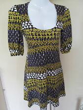 Miss Selfridge petites Scoop neck multi coloured S/Sleeved Mini dress size 32